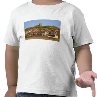 New housing and St Margarets church, Whitby, T-shirts