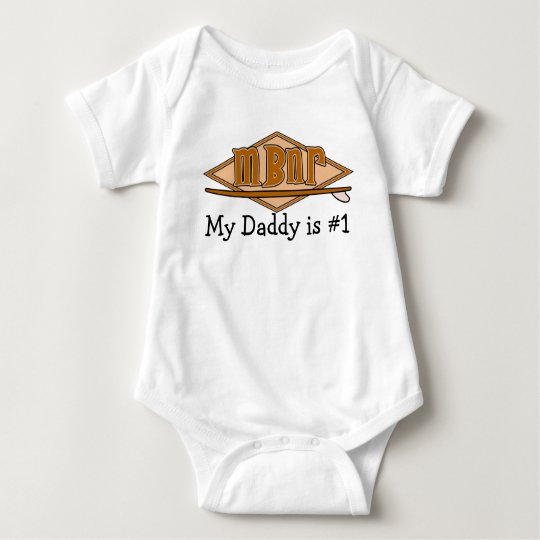 New Image, My Daddy is #1 Baby Bodysuit