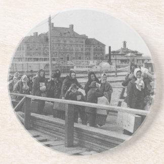 New Immigrants Landing at Ellis Island New York Coaster