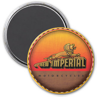 New imperial motorcycles 7.5 cm round magnet