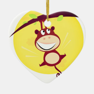 New in shop : Acrylic heart with Little Monkey Ceramic Heart Decoration