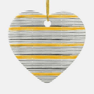 New in shop : Designers heart with gold stripes Christmas Ornament