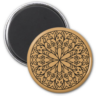 New in shop : fresh abstract geometric Pattern 6 Cm Round Magnet