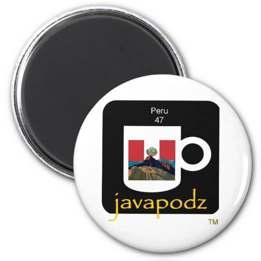 New JavaPodz Peru Magnet