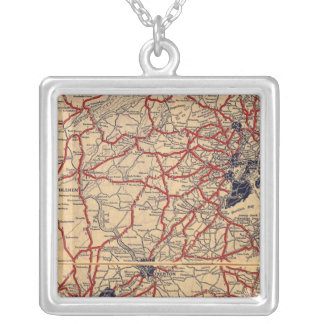 New Jersey 6 Silver Plated Necklace
