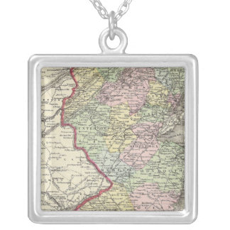 New Jersey 8 Silver Plated Necklace