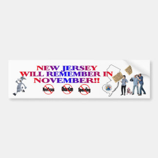 New Jersey - Anti ObamaCare, New Taxes & Spending Bumper Sticker