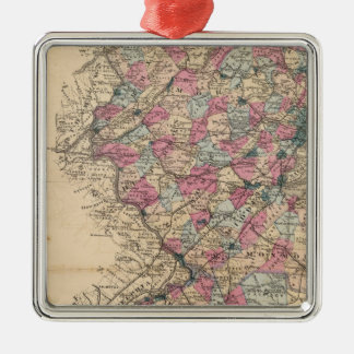 New Jersey Atlas map Christmas Ornament