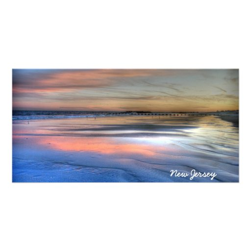 New Jersey Beach Picture Photo Card Sand Ocean