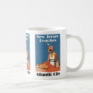 New Jersey Beaches ~ Atlantic City Basic White Mug