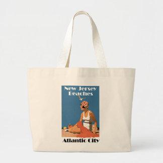 New Jersey Beaches ~ Atlantic City Jumbo Tote Bag