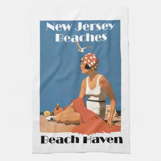 New Jersey Beaches ~ Beach Haven Tea Towel