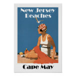 New Jersey Beaches ~ Cape May Poster