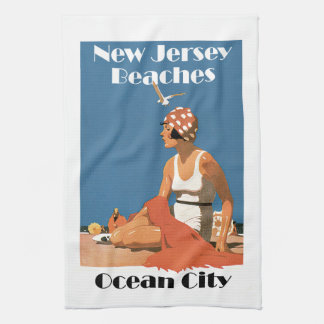 New Jersey Beaches ~ Ocean City Tea Towel