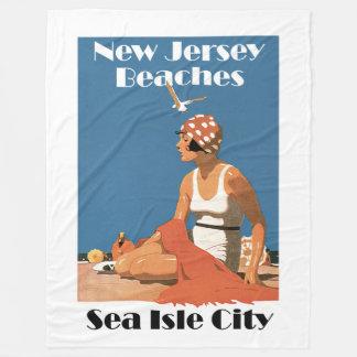 New Jersey Beaches ~ Sea Isle City Fleece Blanket