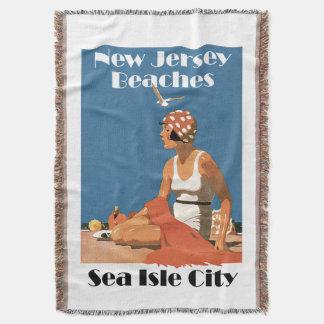 New Jersey Beaches ~ Sea Isle City Throw Blanket