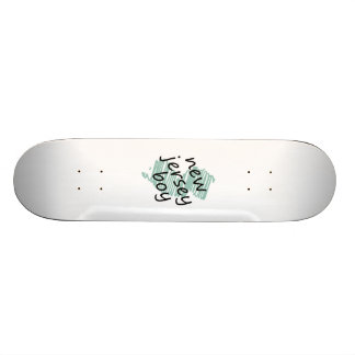 New Jersey Boy on Child s New Jersey Map Drawing Skate Boards