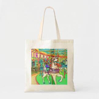 New Jersey Carousel Color Sketch Tote Bag