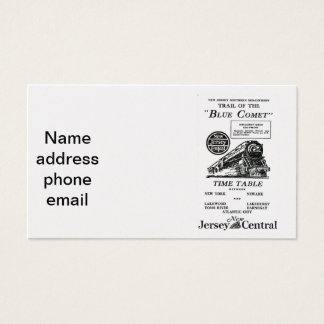 New jersey business cards business card printing zazzle uk new jersey central blue comet train business cards reheart Image collections