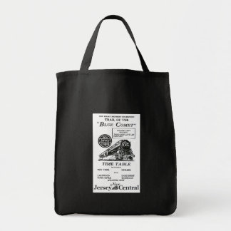 New Jersey Central Blue Comet Train Grocery Tote Bag