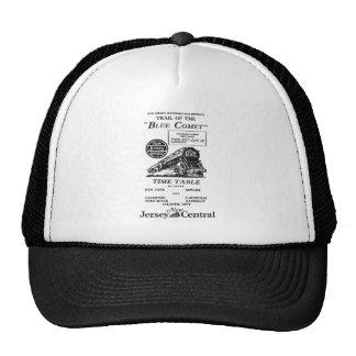 New Jersey Central Blue Comet Train Trucker Hats