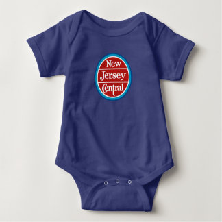 New Jersey Central Railfan Baby Bodysuit