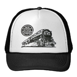 New Jersey Central Steam Engine Cap