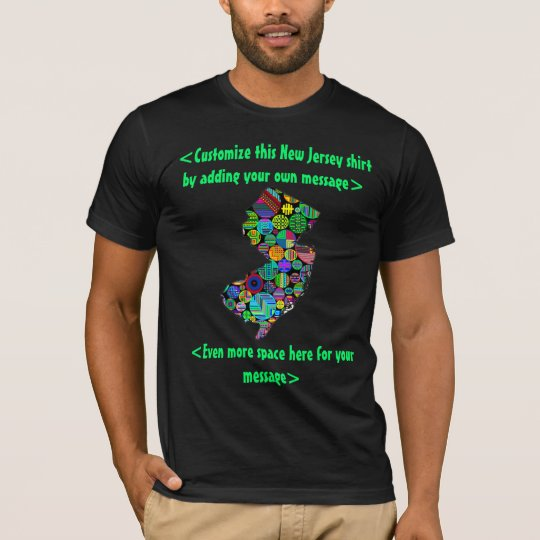 New Jersey Colourful Custom T-Shirt - YOU