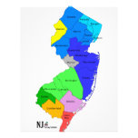 New Jersey Counties in Colour 21.5 Cm X 28 Cm Flyer
