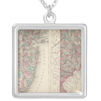 New Jersey, Delaware, and Maryland Silver Plated Necklace