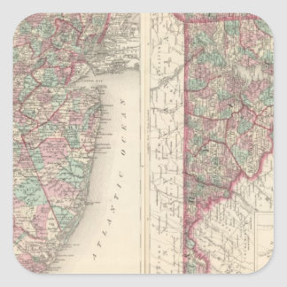 New Jersey, Delaware, and Maryland Square Sticker