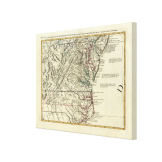 New Jersey, Delaware, Virginia, North Carolina Canvas Print