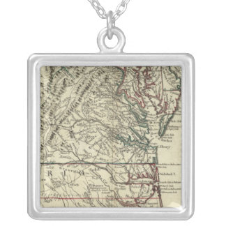 New Jersey, Delaware, Virginia, North Carolina Silver Plated Necklace