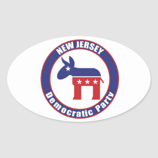 New Jersey Democratic Party Oval Stickers