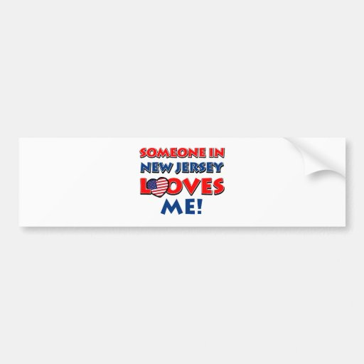 NEW JERSEY designs Bumper Stickers