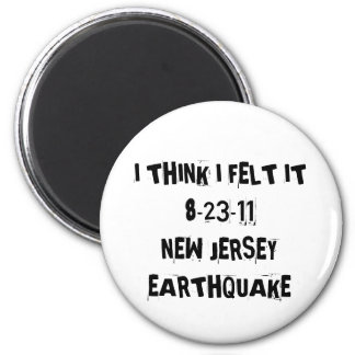 New Jersey Earthquake Magnet