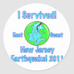New Jersey Earthquake of 2011 Round Sticker