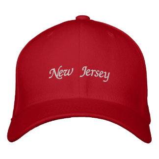 New Jersey Embroidered Baseball Cap