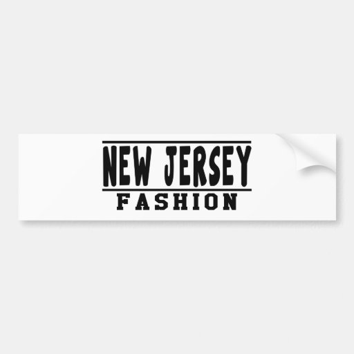 New Jersey Fashion Designs Bumper Sticker