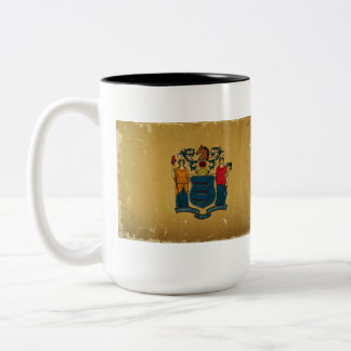 New Jersey Flag VINTAGE Two-Tone Mug