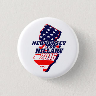 New Jersey for Hillary 2016 3 Cm Round Badge