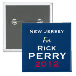 New Jersey For Rick PERRY 2012 Campaign Button