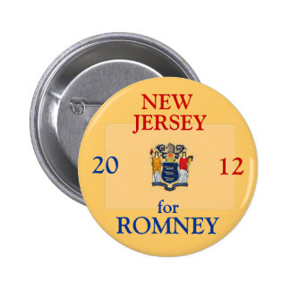 New Jersey for Romney 2012 6 Cm Round Badge