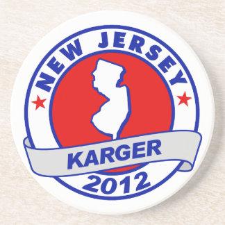 New Jersey Fred Karger Beverage Coaster