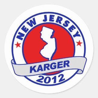 New Jersey Fred Karger Round Sticker