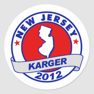 New Jersey Fred Karger Stickers