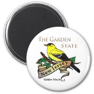 New Jersey Garden State Golden Finch Magnet