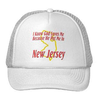 New Jersey - God Loves Me Cap