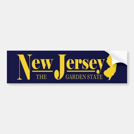 New Jersey Gold Bumper Sticker