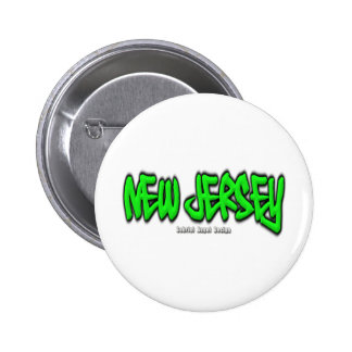 New Jersey Graffiti 6 Cm Round Badge